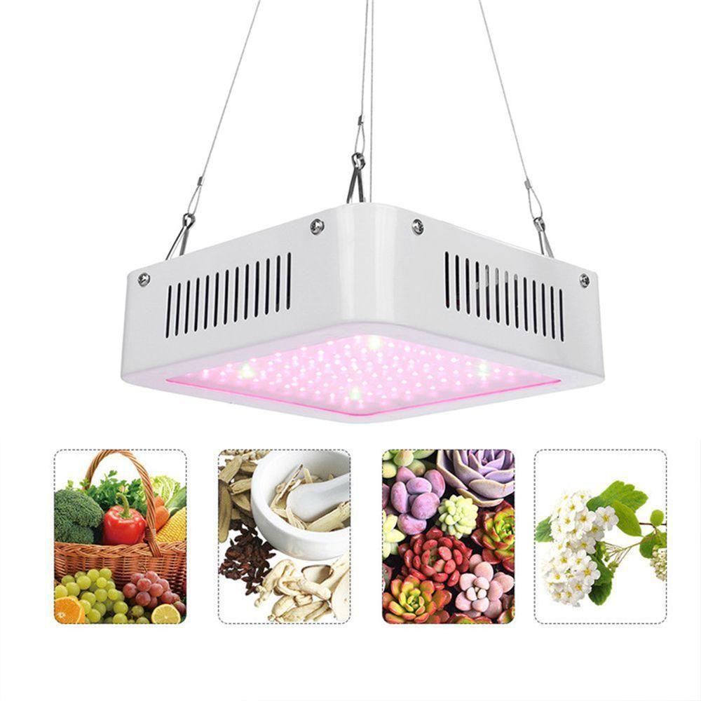 RVH US$41.19 100W Square 96 LED Grow Light Red: Green 8:1 Full Spectrum Kit Indoor Plant Lamp AC100-240V