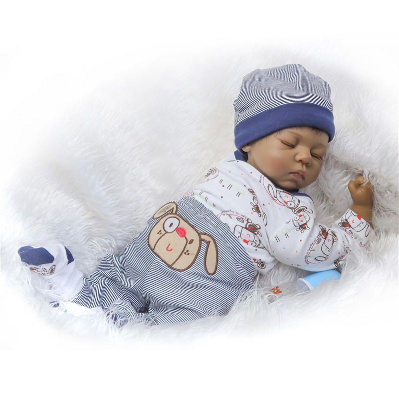 IYR US$80.39 NPK Collection 20inch Soft Silicone Limbs Cloth Body Reborn Dolls Lifelike Sleeping Baby Toy