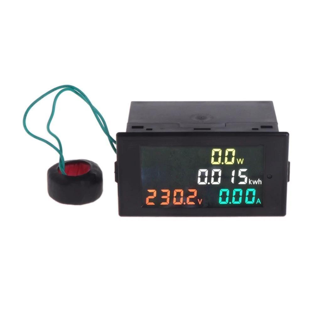 TTI US$16.01 D69-2049 AC80-300V/AC200-450V Energy Meter Voltmeter Ammeter Power Energy Meter Volt Amp Power Kwh Meter