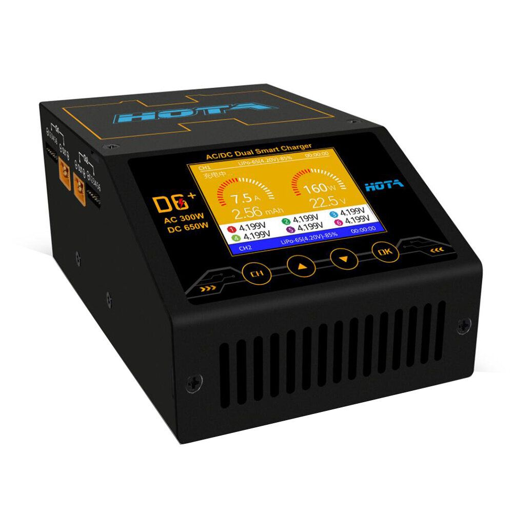 CET US$109.99 HOTA D6+ AC 300W DC 2X325W 2X15A Dual Channel Smart Battery Charger Discharger
