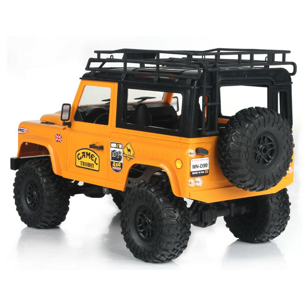 PXR US$40.99 MN90 1/12 2.4G 4WD Rc Car W/ Front LED Light 2 Body Shell Roof Rack Crawler Monster Truck RTR Toy