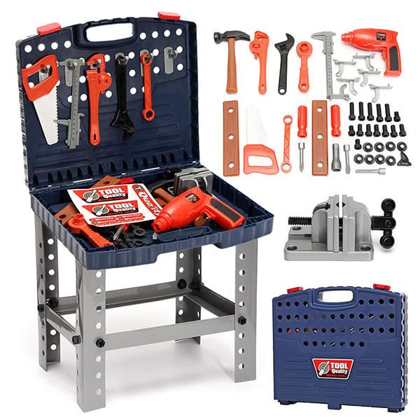 MED US$46.99 69Pcs Play House Engineer Tools Set Kids Repair Tools Box Pretend Play Toys