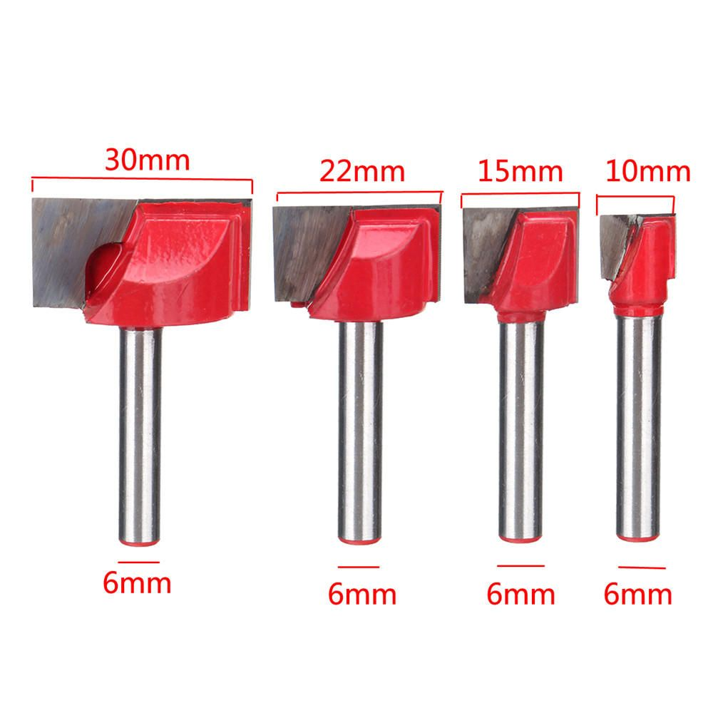 RFZ US$2.53~4.53 10/15/22/30mm Surface Planing Bottom Cleaning Wood Milling Router Bit For CNC
