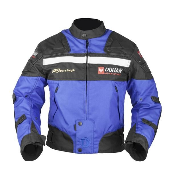 AVW US$100.73 DUHAN Motocross Motorcycle Racing Windproof Jacket with Protector Gears D-020