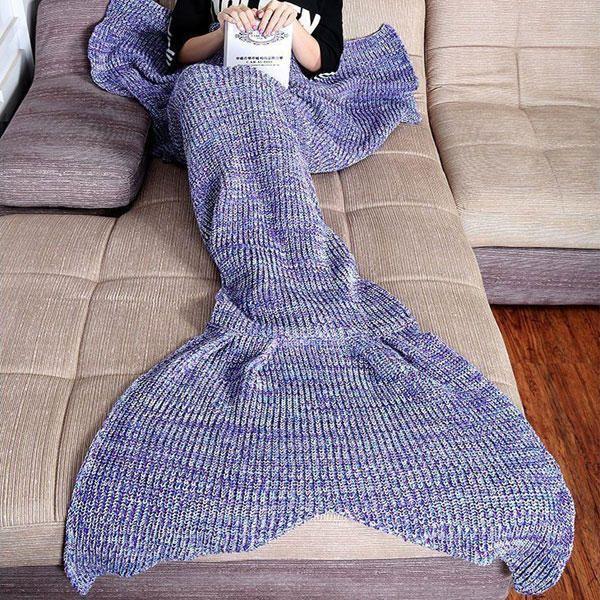 MEV US$27.03 Honana WX-37 180x90cm Knitting Mermaid Tail Blanket Home Office Acrylic Fibers Warm Soft Sleep Bag
