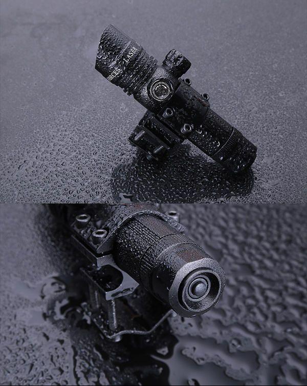 TGA US$27.38 Hand Adjustable Red Dot Laser Sight Light Scope Barrel Rail Mount Kit with Battery Charger