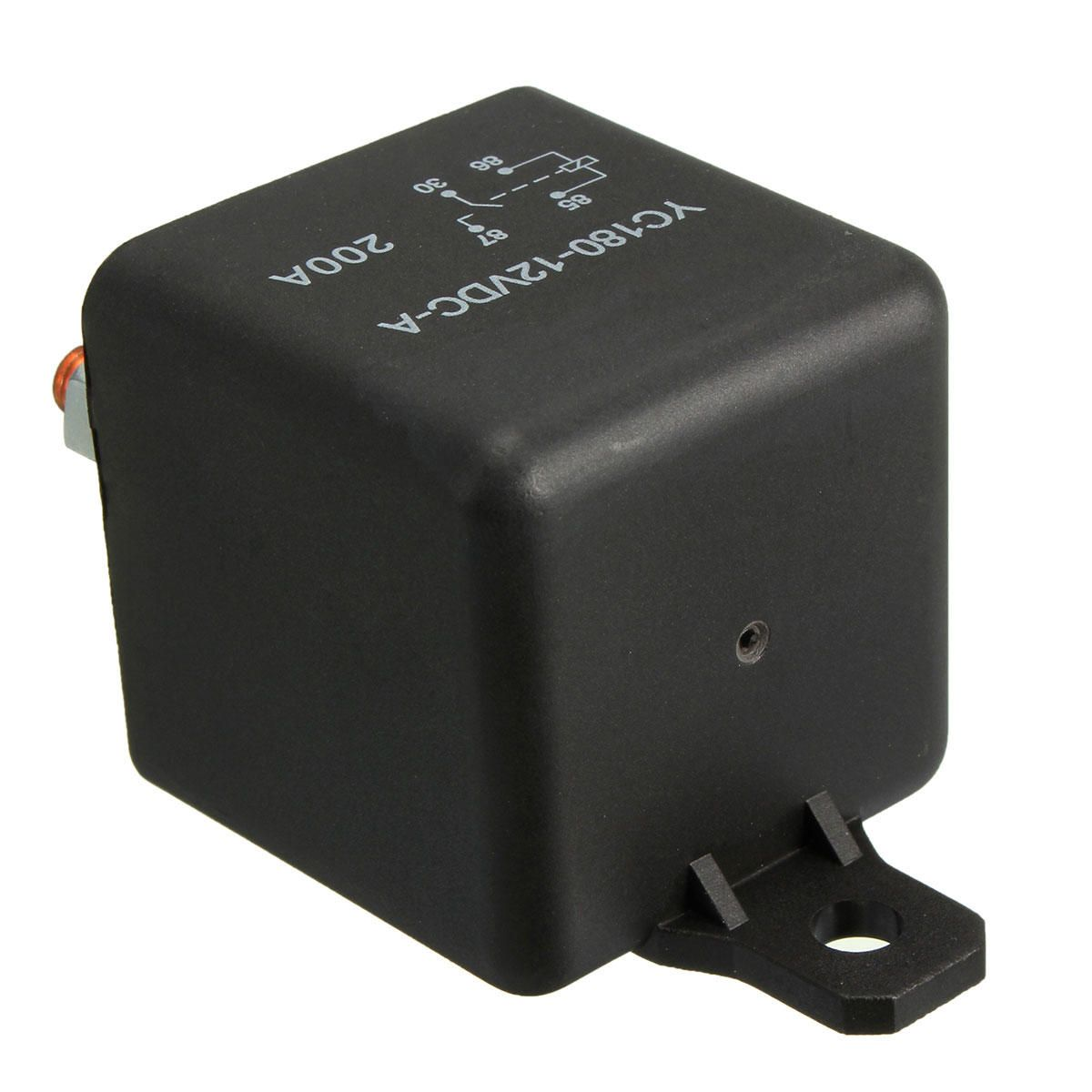 KKA US$7.49 12V 200A Heavy Duty Split Charge ON/OFF Switch Relays Car Auto Boat 200Amp