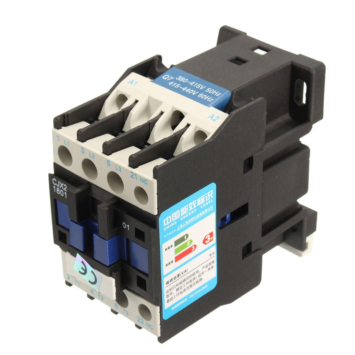 GDM US$12.76 CJX2-1801 AC 220V/380V 18A Contactor Motor Starter Relay 3 POLE+1NC COIL 4KW 7.5KW