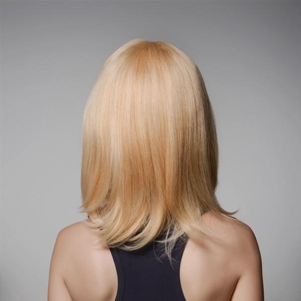 JYV US$86.84 Human Hair Medium Wigs Virgin Remy Mono Top Capless Side Bang Golden Blonde Wig 8 Colors