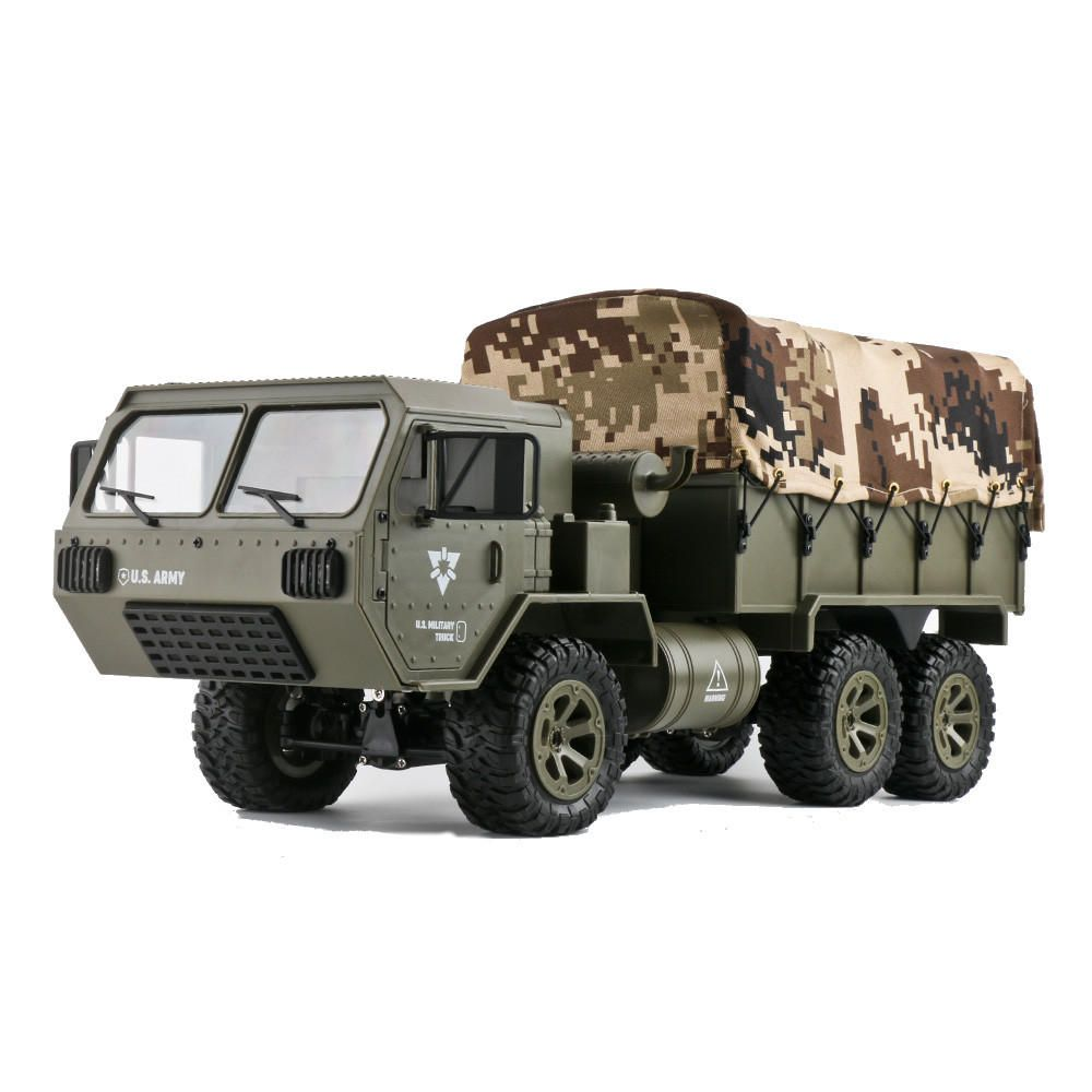 KZN US$56.99 2 Batteries Fayee FY004A with Canvas 1/16 2.4G 6WD Rc Car Proportional Control US Army Military Truck RTR Model