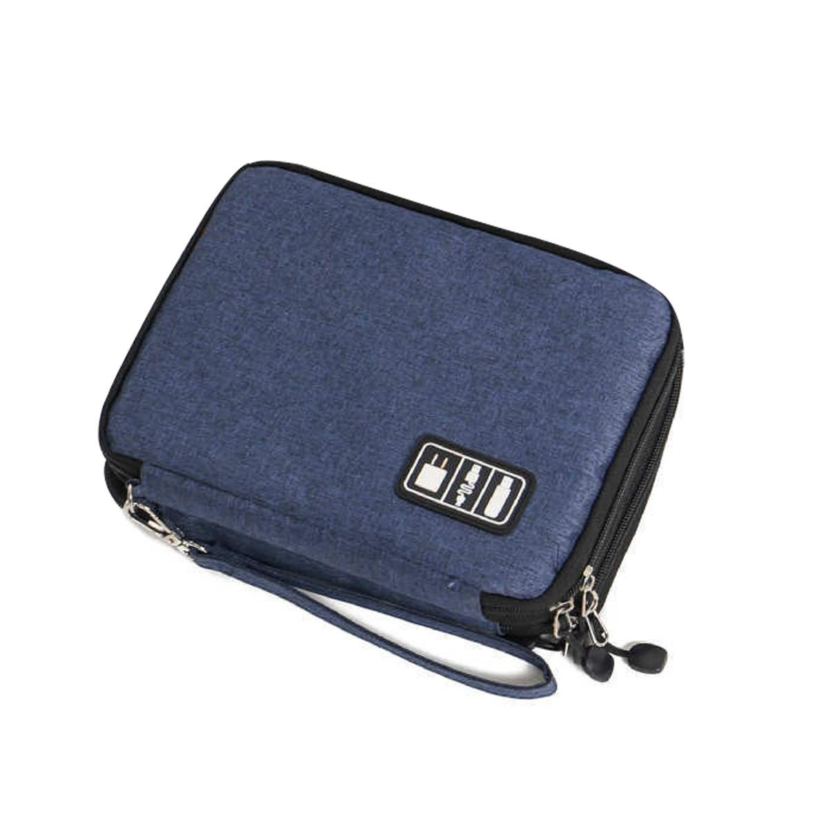 NFR US$13.98 Outdoor Travel Portable Digital Storage Bag Waterproof Multi-function Data Cable Accessories Organizer Pouch