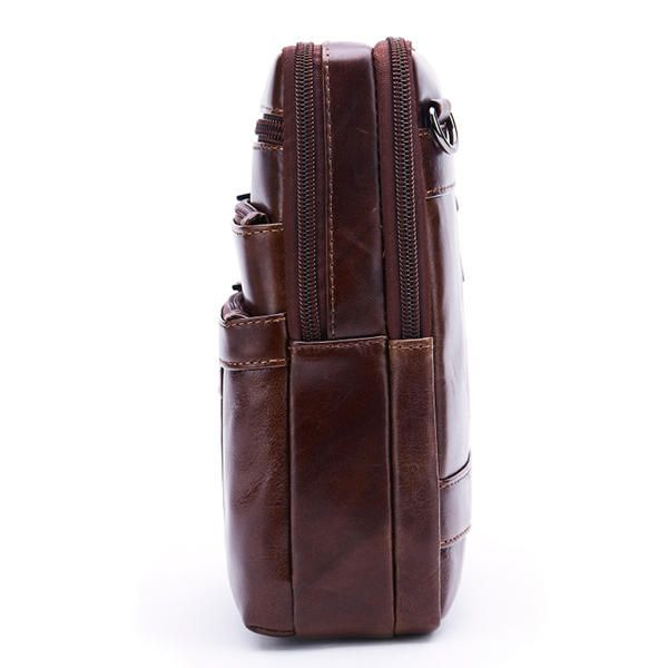 GUA US$49.03 Men Vintage Genuine Leather Business Multi-functional Crossbody Bag for Ipad