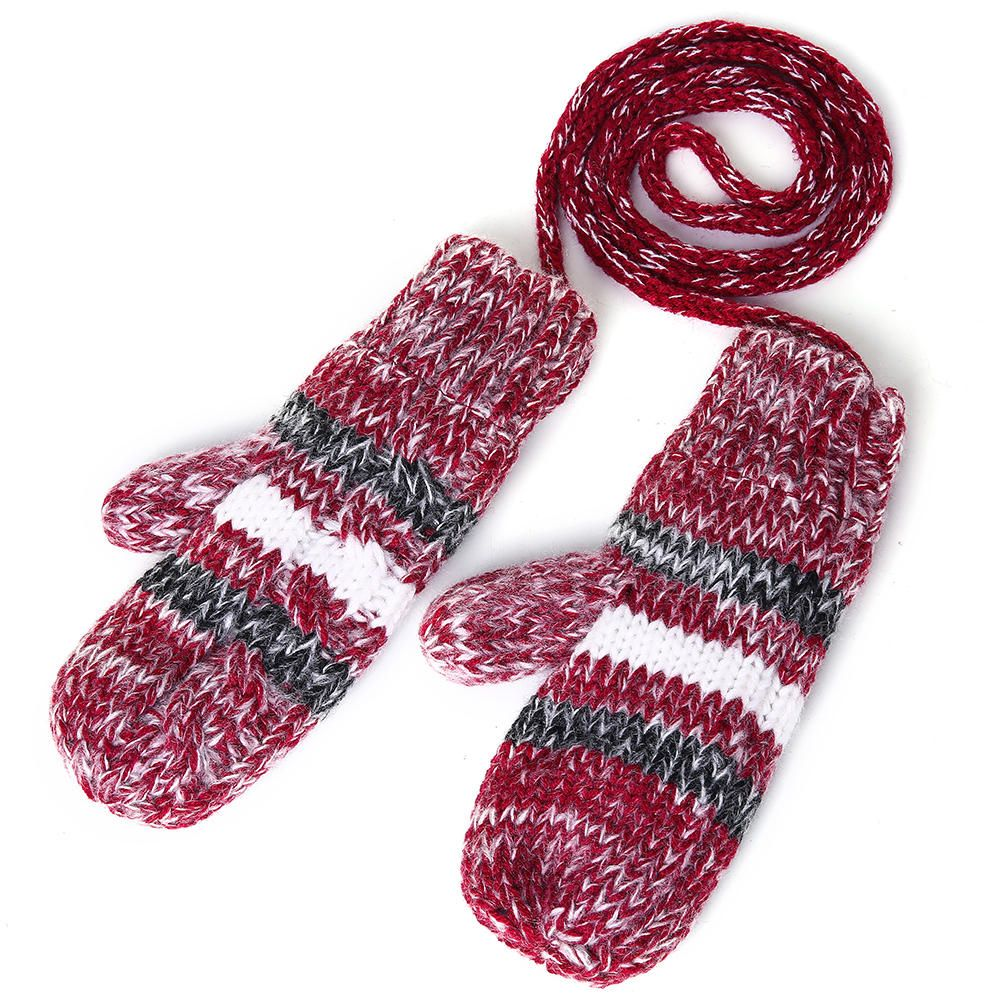 CVM US$36.05 Women's Chic Full Handmade Knitting Three-piece Set Warm Thickened Christmas Knit Hat Scarf Gloves