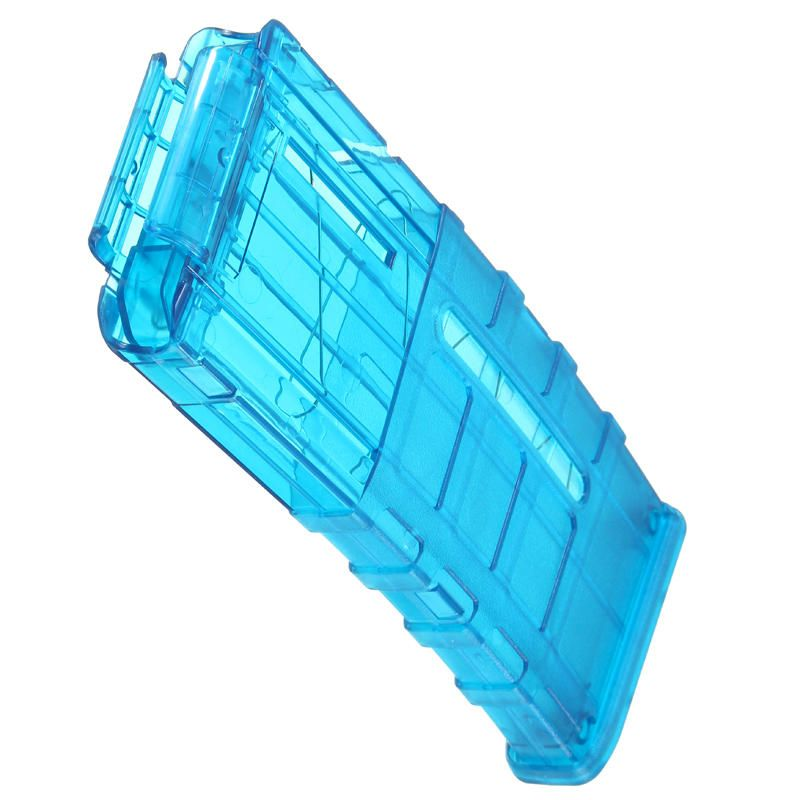 XQV US$10.99 WORKER Mod ProphecyR 12 Darts Quick Reload Clip For Nerf N-Strike Blaster Blue Transparent Toys