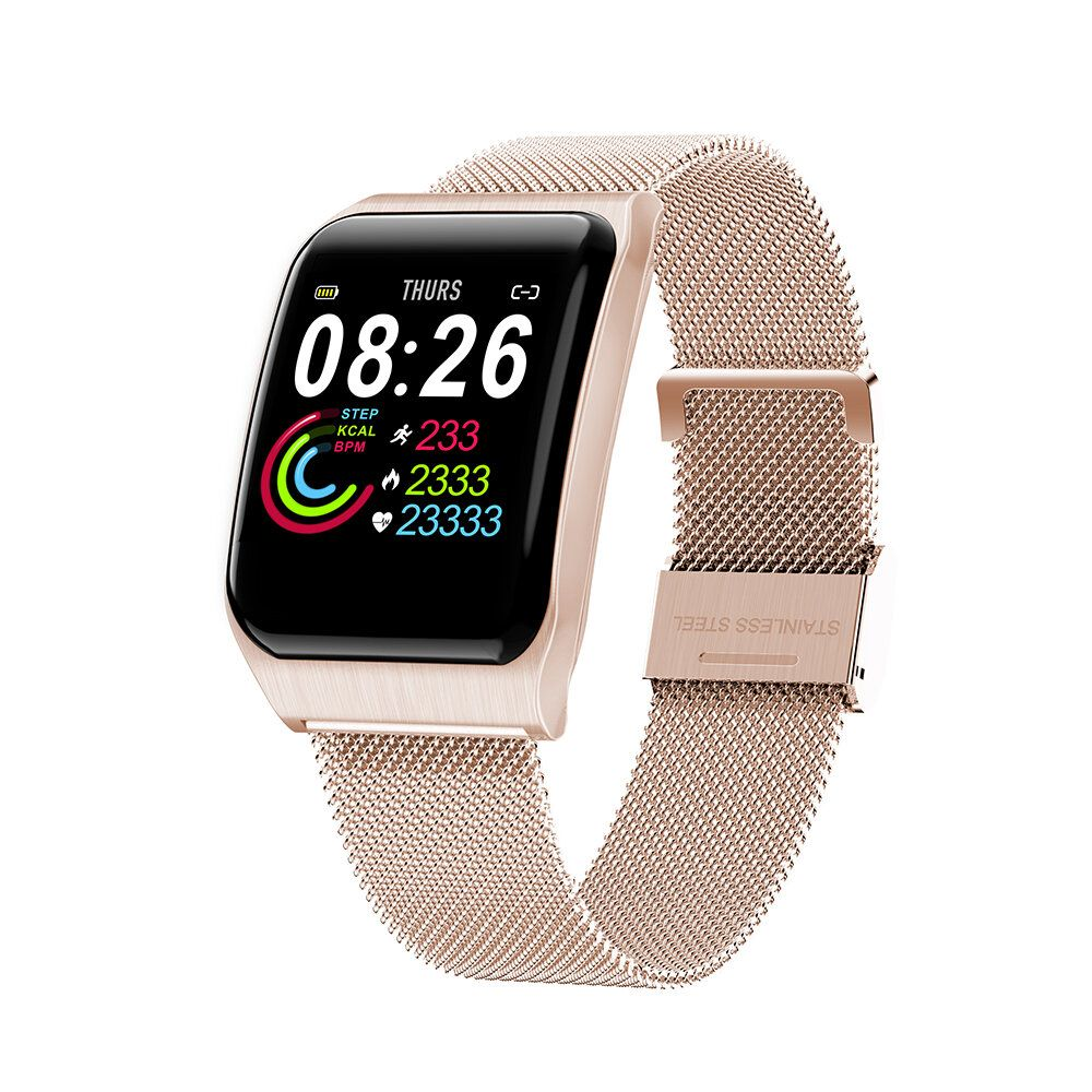 GJR US$34.32 Bakeey F9 Custom Dial Big Screen Display Smart Watch 24-Hour HR and Blood Pressure Monitor IP68 Wristband