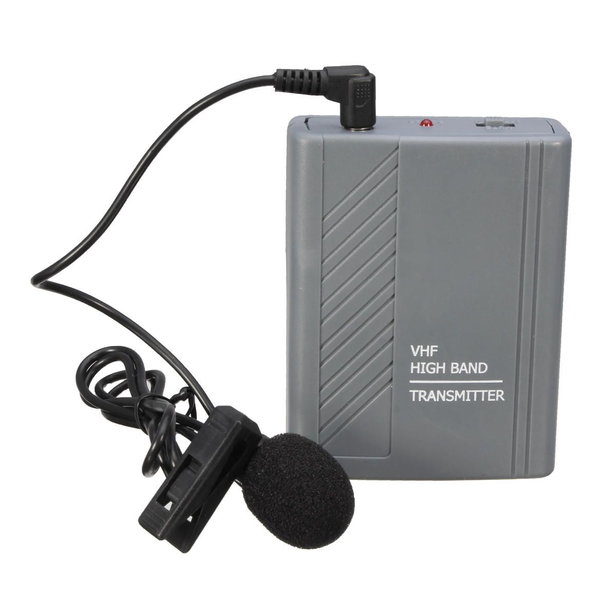 KQF US$27.40 Wireless Meeting Teaching Clip-on Headset Lavalier Microphone MIC Audio Loudspeaker Transmitter Receiver
