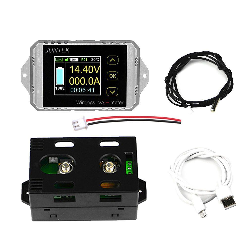 HHP US$32.75 VAT1030 Wireless DC Voltmeter Current Tester Watt Measurement Digital Display Electric Garage Meter With Temperature Sensor