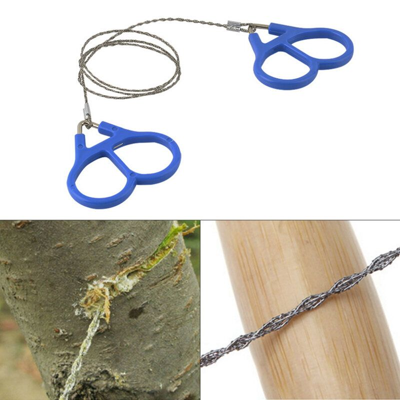 GNT US$3.99 IPRee® Camping Wire Saw Stainless Steel Travel Garden Branch Fretsaw Emergency Survival Gear