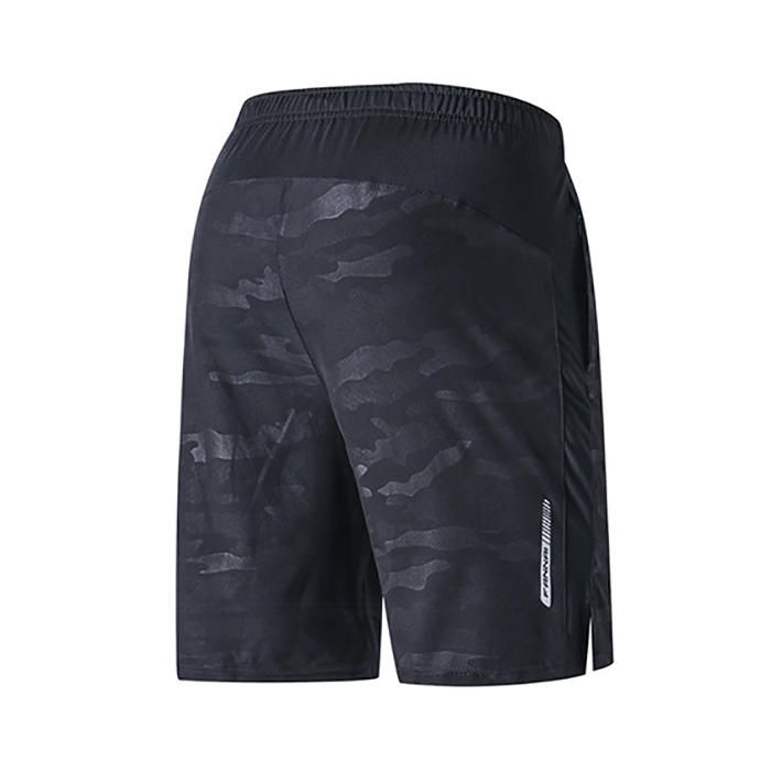 KSN US$25.99 Summer Men Quick Dry Workout Running Shorts Elastic Waist Polyester Big Pockets Shorts