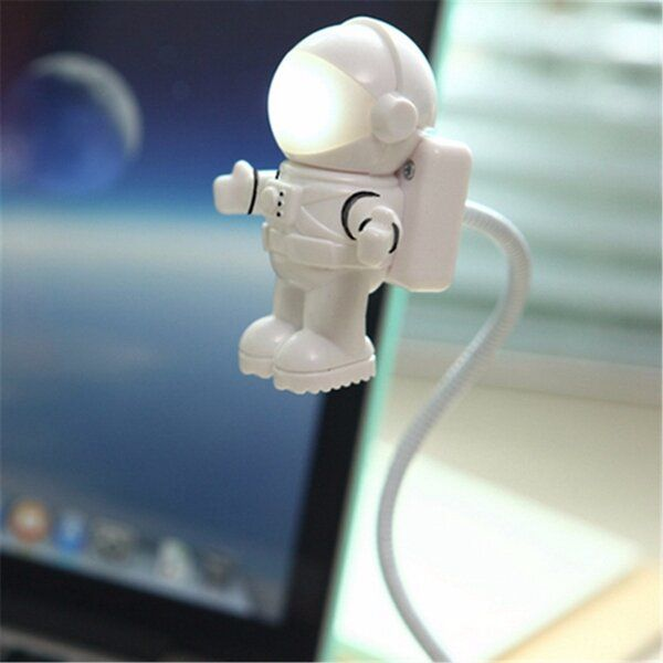 YSE US$4.27 Adjustable Astronaut USB Tube LED Night Light Lamp For Macbook Air Pro Laptop PC
