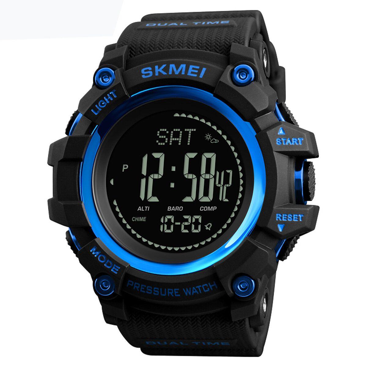 JNA US$17.49 SKMEI 1358 3ATM Waterproof Smart Watch Pedometer Barometer Thermometer Altimeter Compass Outdoor Climbing Smart Bracelet