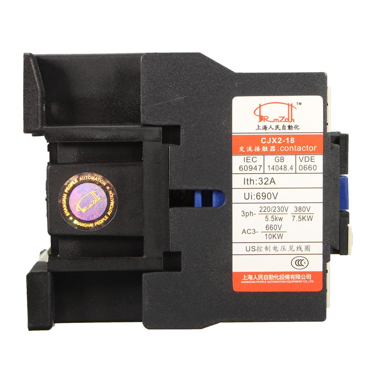 OBO US$14.04 AC Contactor AC220V Coil 32A 3-Phase 1NO 50/60Hz Motor Starter Relay LC1 D1810
