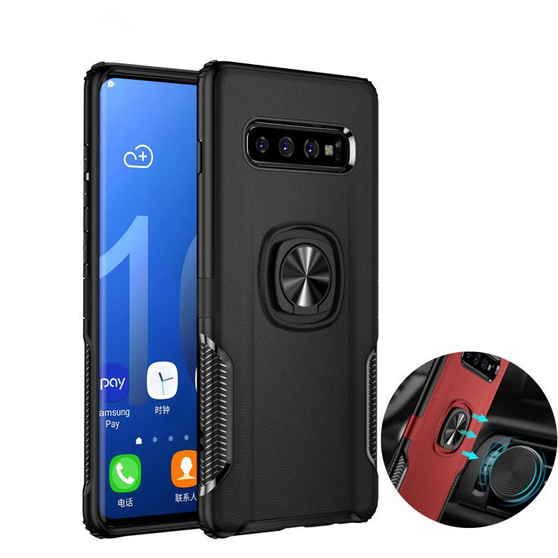 WVG US$6.22 Bakeey Protective Case For Samsung Galaxy S10e 5.8 Inch Ring Grip Bracket Magnetic Adsorption Back Cover