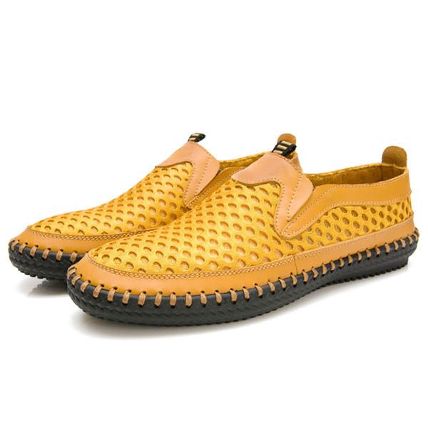HDT US$42.36 US Size 6.5-12 Mens Breathable Mesh Sweat Absorption  Slip On Oxfords Flats