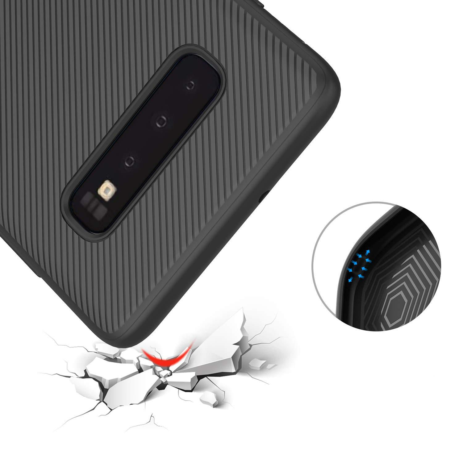 OXX US$6.28 Bakeey Carbon Fiber Protective Case For Samsung Galaxy S10 Plus Shockproof Soft TPU Back Cover