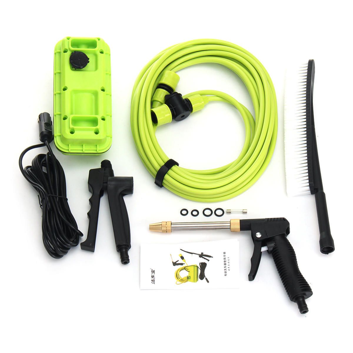 JJE US$137.20 12V 80W Portable High Pressure Washer Spray Gun Electric Car Washer Cleaner Pump
