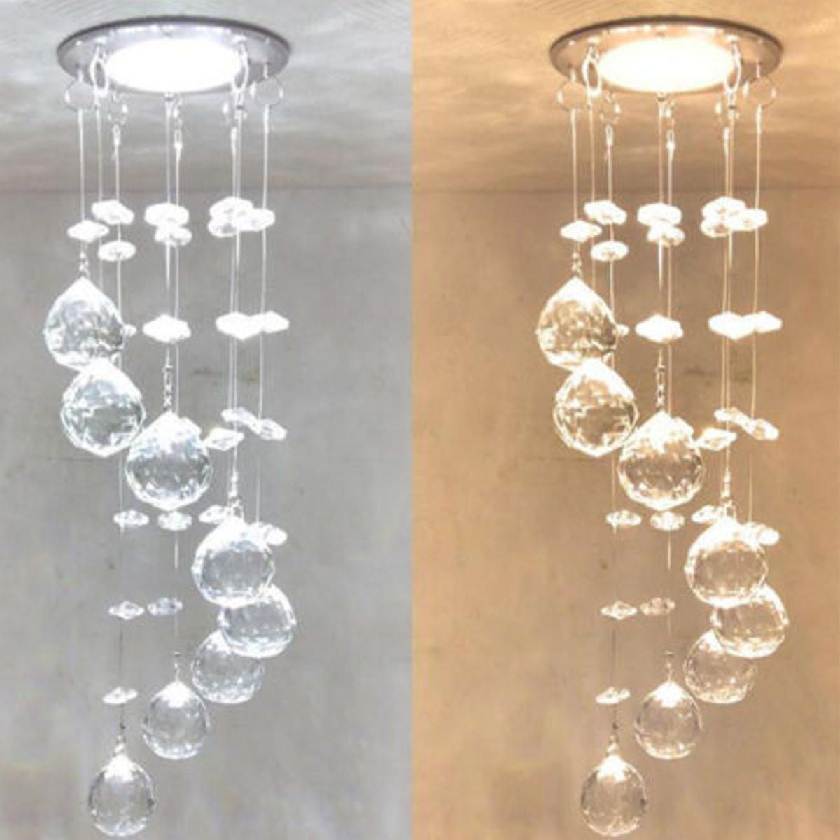 UTU US$17.34 3W LED Crystal Concealed Ceiling Light Small Chandelier Lamp Pendant Hallway