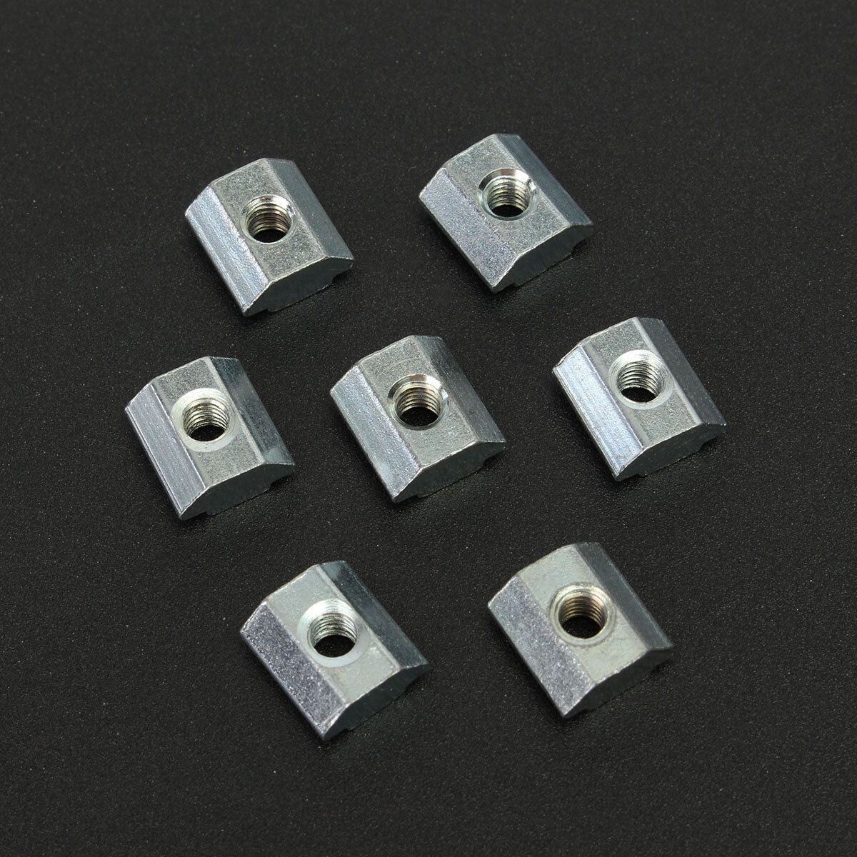 WVD US$6.85 50pcs M4 T Sliding Nut Block for 2020 Aluminum Profile Zinc Coated Plate Aluminum Accessories