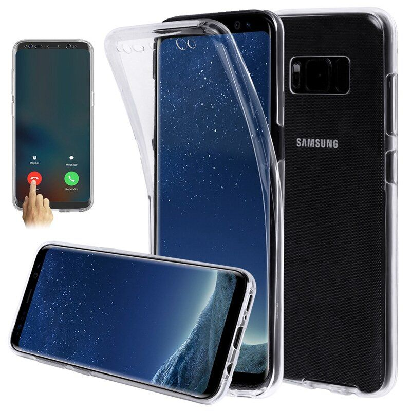 QPT US$2.10~3.10 Full Body Transparent Touch Screen TPU Case For Samsung Galaxy S8