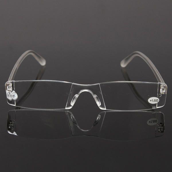 NHM US$3.00 Fashion Resin Clear Rimless Reader Presbyopic Eyewear Reading Glasses