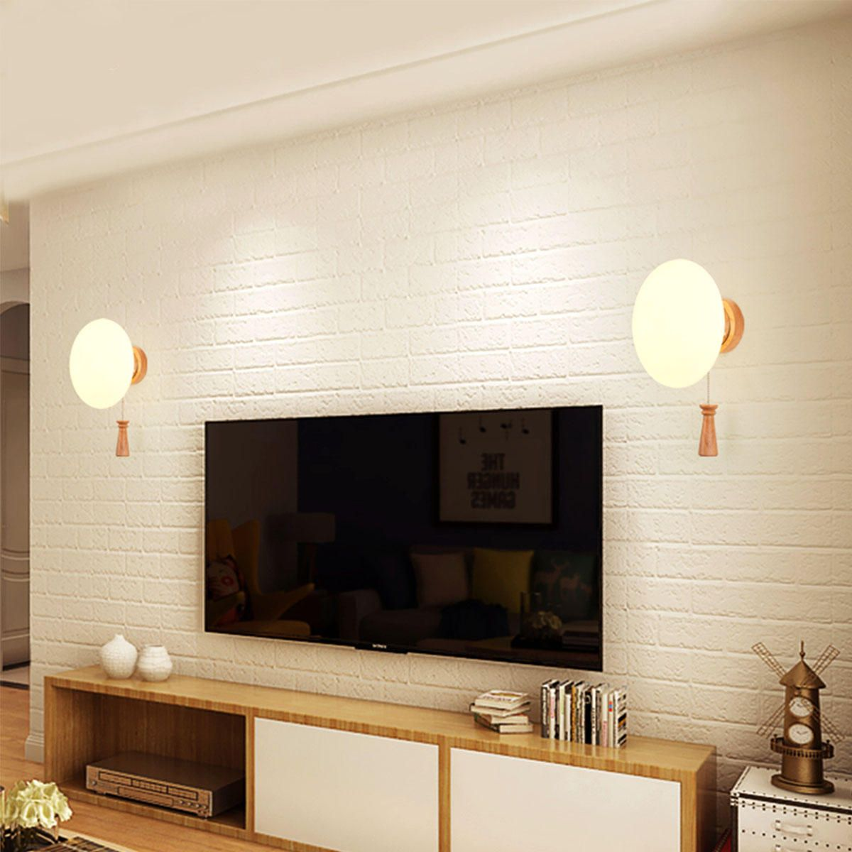 XEB US$36.99 110-220V Modern Wall Lights Indoor Sconces Porch Bedroom Bedside Aisle Lamp
