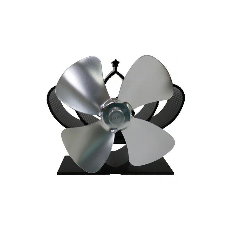 ARN US$36.39 IPRee® YL201 Mini 4 Blades Fireplace Fan 1100rpm Wind Speed 130-180CFM Wind Volume Wood Burner Stove Thermal Heat Power Fan