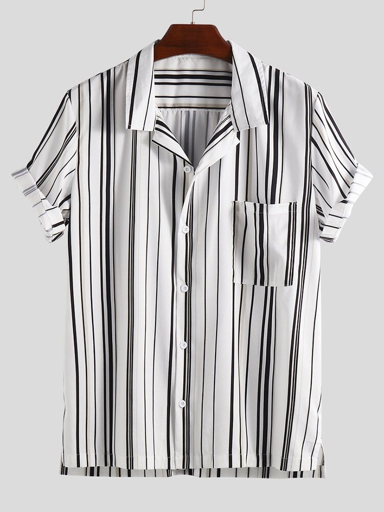 JXM US$17.99 Mens Summer Short Sleeve Stylish Striped Shirts