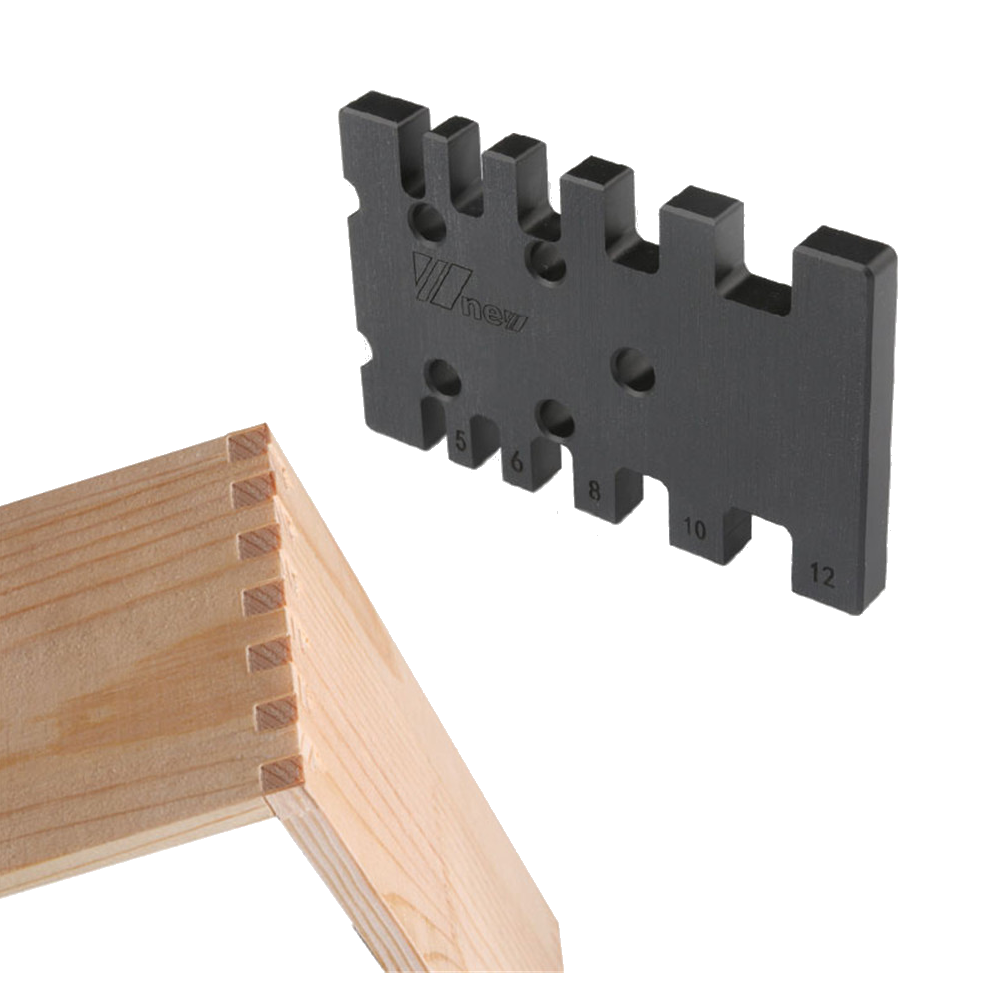 TSP US$10.38 Drillpro Inch/MM Woodworking Tenon and Mortise Milling Gauge Angle Miter Gauge Template Right Angle Sawing Jiont for Table Saw Router Table CNC Milling
