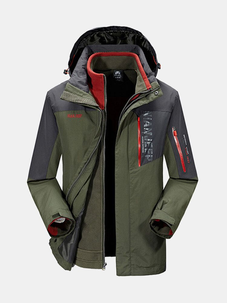 ICB US$108.17 Winter Outdoor Windbreaker Fleece Liner Jacket Mens Warm Ski Sportswear Removable Two-Piece