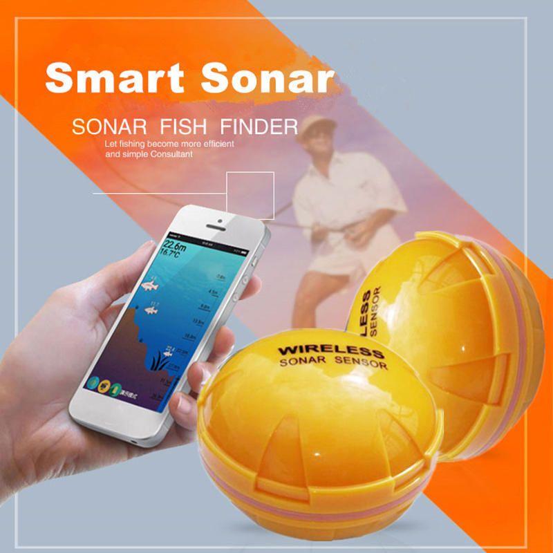 AJC US$95.93 Fish Tools Fishfinder Wireless Sonar Fish Finder Marine Sea Lake Fish iOS Android App Fish Sounder