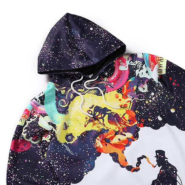 PRS US$33.64 Mens Unique Personalized 3D Colorful Printed Casual Hoodies Sweatshirt
