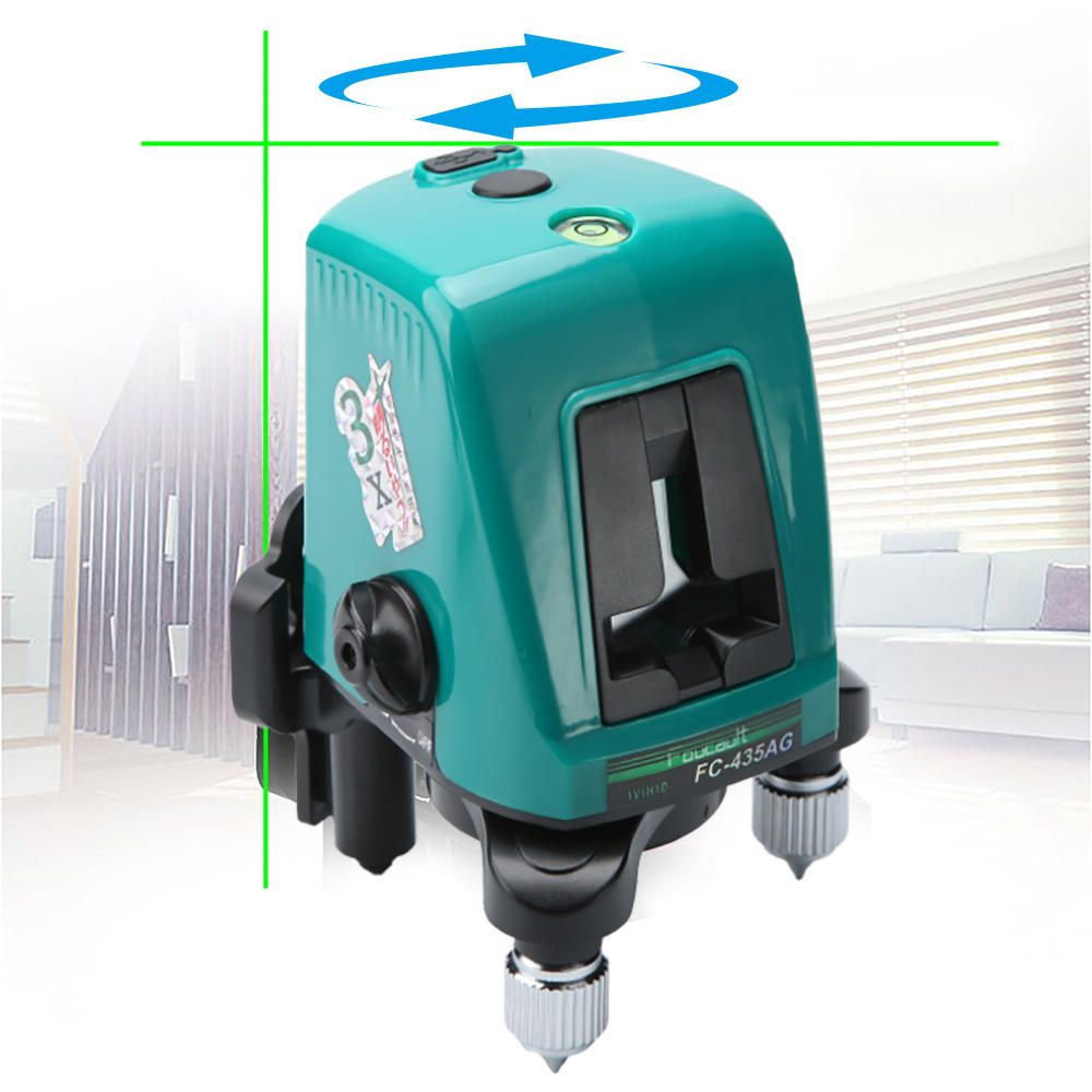 SLE US$24.99 Foucault FC-435AG Mini Infrared Laser Level with Oblique Function Line Projector 2 Line 1 Brightening Point Green Light