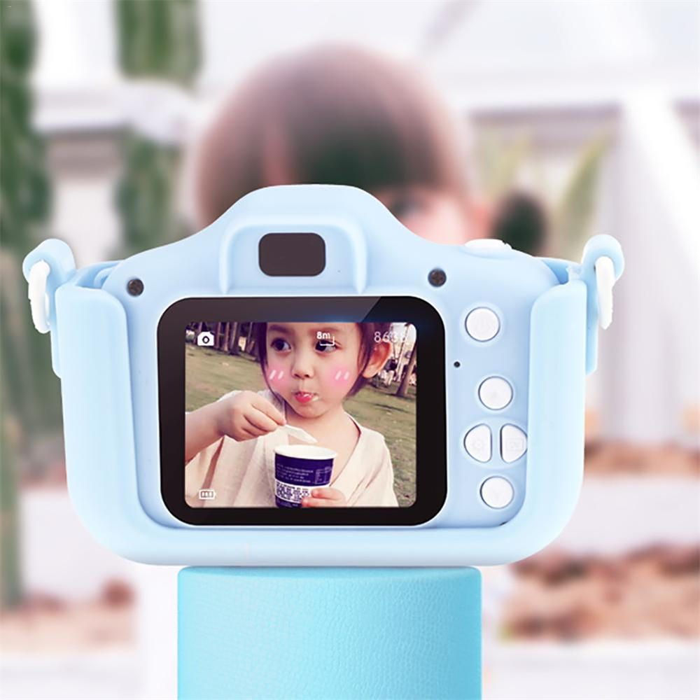 XQC US$27.99 Bakeey 2000W x5 1080P HD Dual Lens 32G Strorage Card Multi Funtion Cartoon Children Digital Camera
