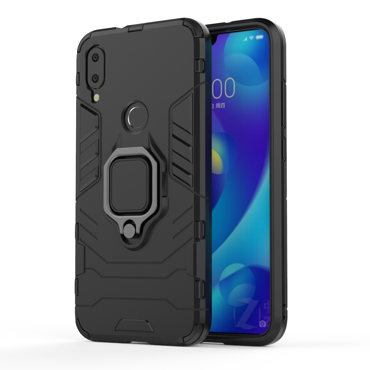 MNN US$5.03 Bakeey Armor Magnetic Card Holder Shockproof Protective Case For Xiaomi Mi Play