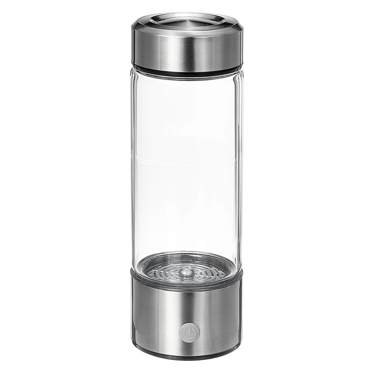 HXJ US$29.99 IPRee® 420ml Titanium Hydrogen-Rich Water Bottle USB Ionizer Antioxidants Maker Drining Cup