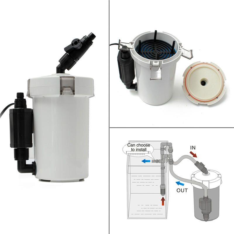 IUR US$62.99 220V 6W HW-603B(L) Mini Aquarium Fish Tank Table Top External Canister Filter