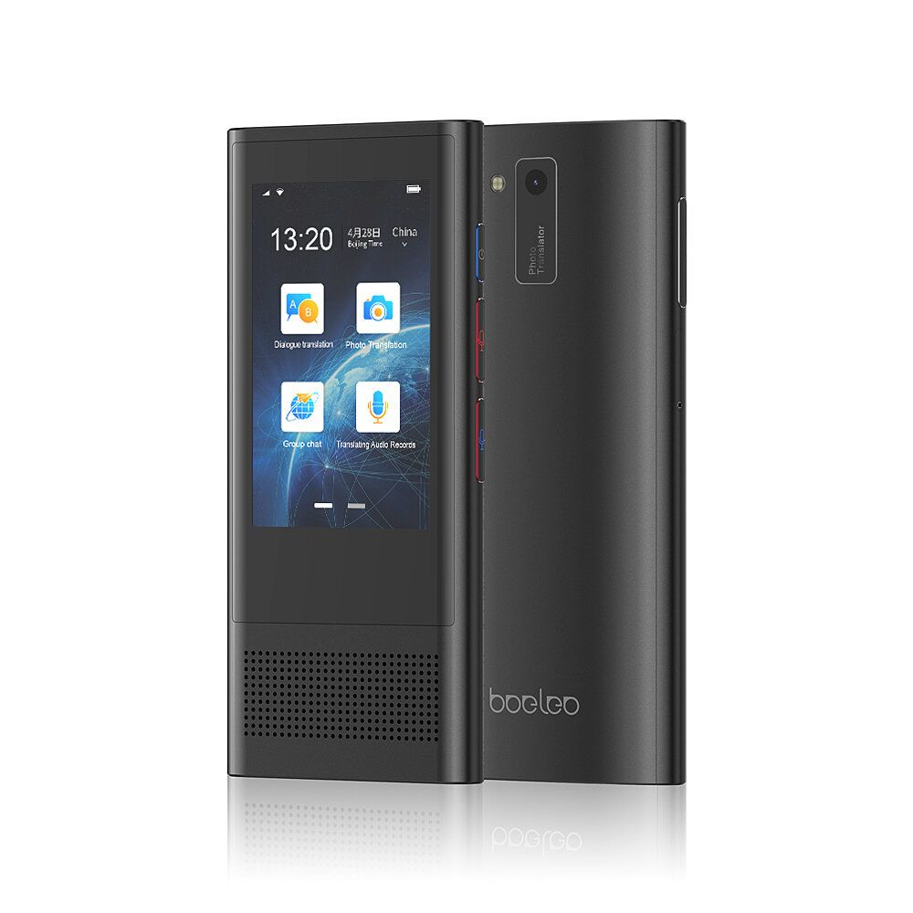 QGQ US$119.99 Boeleo W1 3.0 BF301 AI Translator 3.1inch Touch Screen 117 Languages Support 4G Offline Photographic Recording Translation