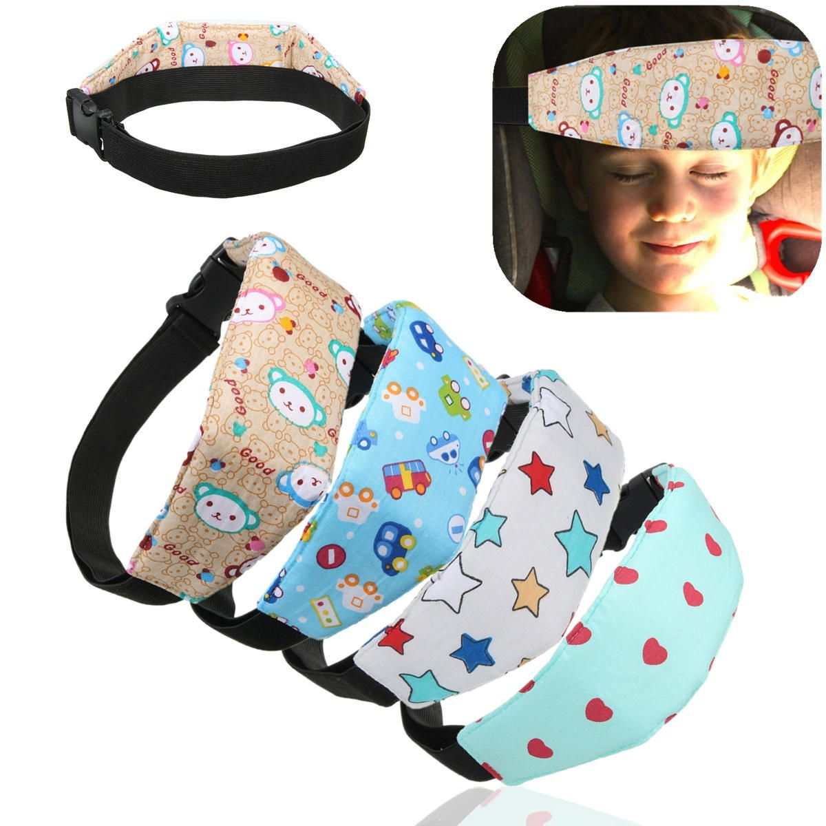 JJU US$6.15 Baby Safety Car Seat Sleep Nap Aid Child Kid Head Support Holder Protector Belt