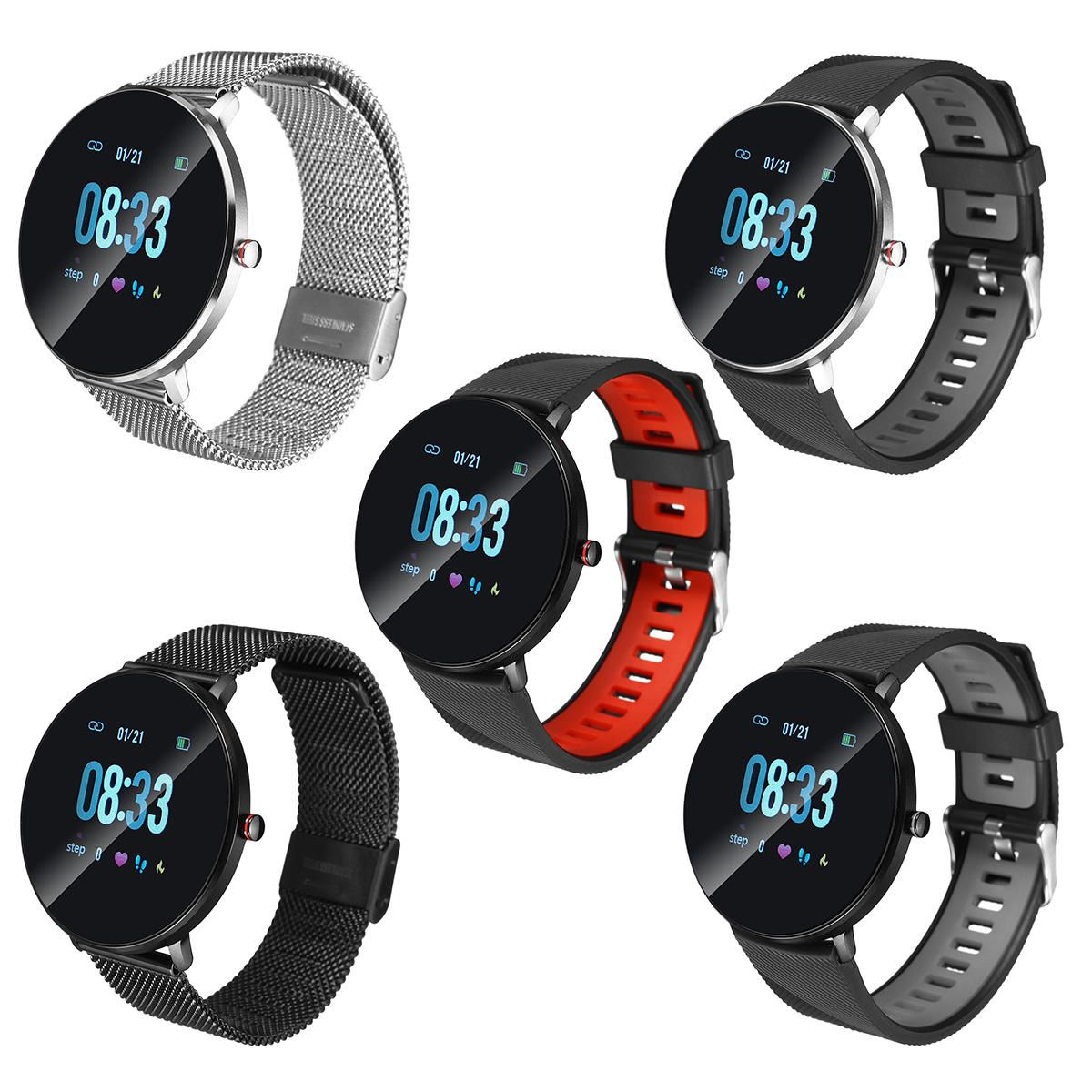 KQF US$26.99~28.99 KALOAD L10 1.65in IPS Color Touch Screen IP68 Waterproof Smart Watch ECG+PPG Heart Rate Monitor Stopwatch Countdown Sports Bracelet Fitness Tracker