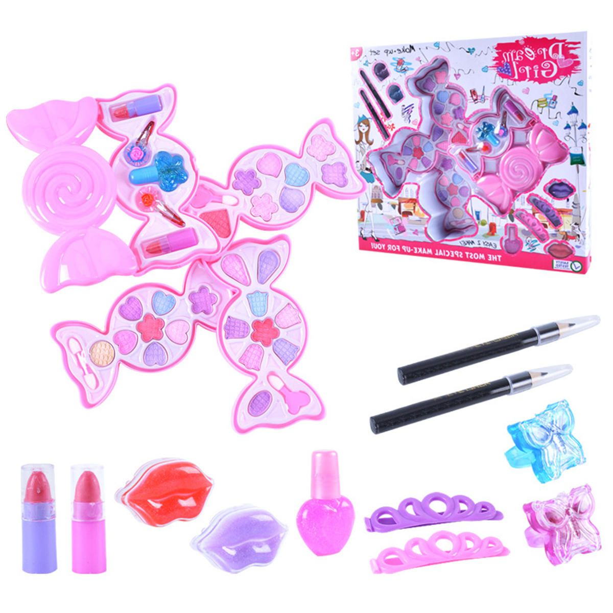 OSX US$10.23~18.23 Cosmetic Princess Makeup Set Kit For Kids Girls Eyeshadow Lip Gloss Blushes Toys